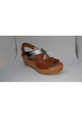 SAND. CUÑA  SANDALS ROBLE-CAVA