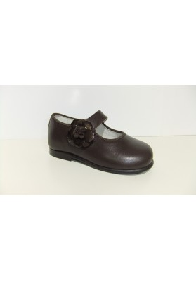 ZAPATO FLOR CHOCOLATE