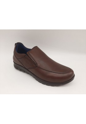 ZAPATO  BE-COOL PIEL CHOCOLATE