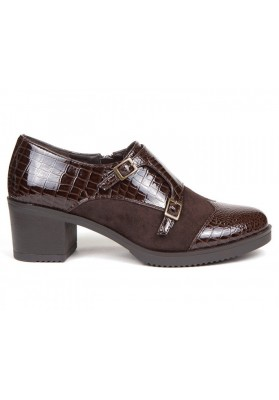 ZAPATO HEBILLAS MARRON